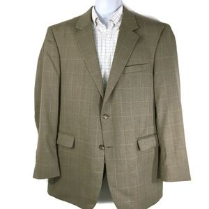 JOS. A. BANK Wool Blazer Men's 44L Brown Check